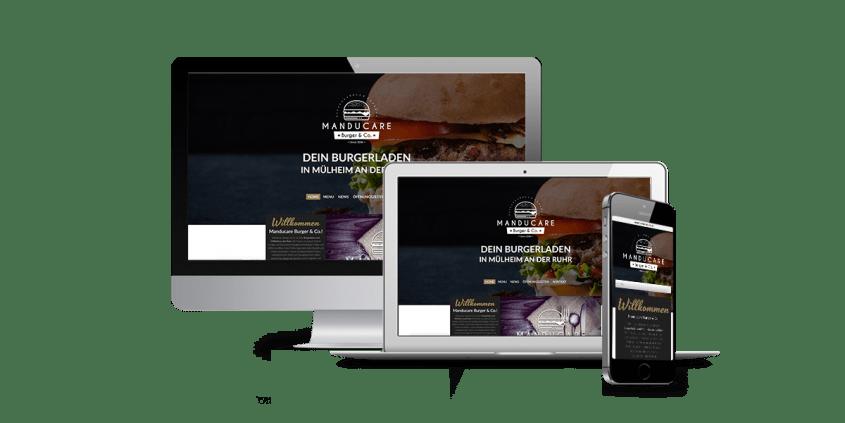 Werbeagentur Muelheim Oberhausen Webdesign ManducareBurgerCo
