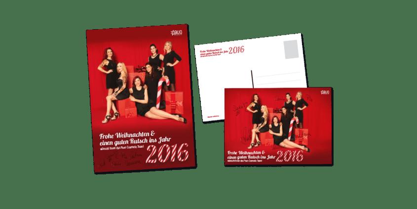 Werbeagentur Muelheim Oberhausen Webdesign Pavo WeihnachtsposterPostkarten