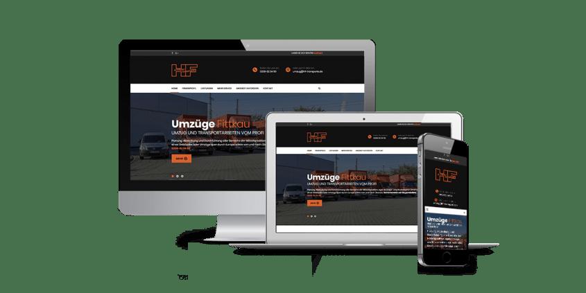 Werbeagentur Muelheim Oberhausen Webdesign UmzügeFittkau