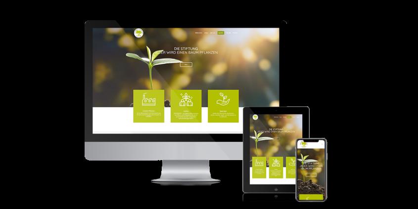 Webdesign für die Stiftung jeder Pflanzt einen Baum