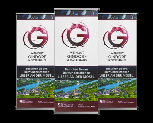 Werbeagentur Muelheim Oberhausen Grafikdesign gindorf rollups