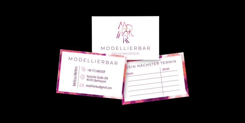 Werbeagentur Muelheim Oberhausen Grafikdesign modellierbar visitenkarten terminkarten