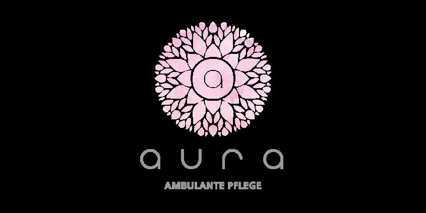 Logo-Design Aura - ambulante Pflege