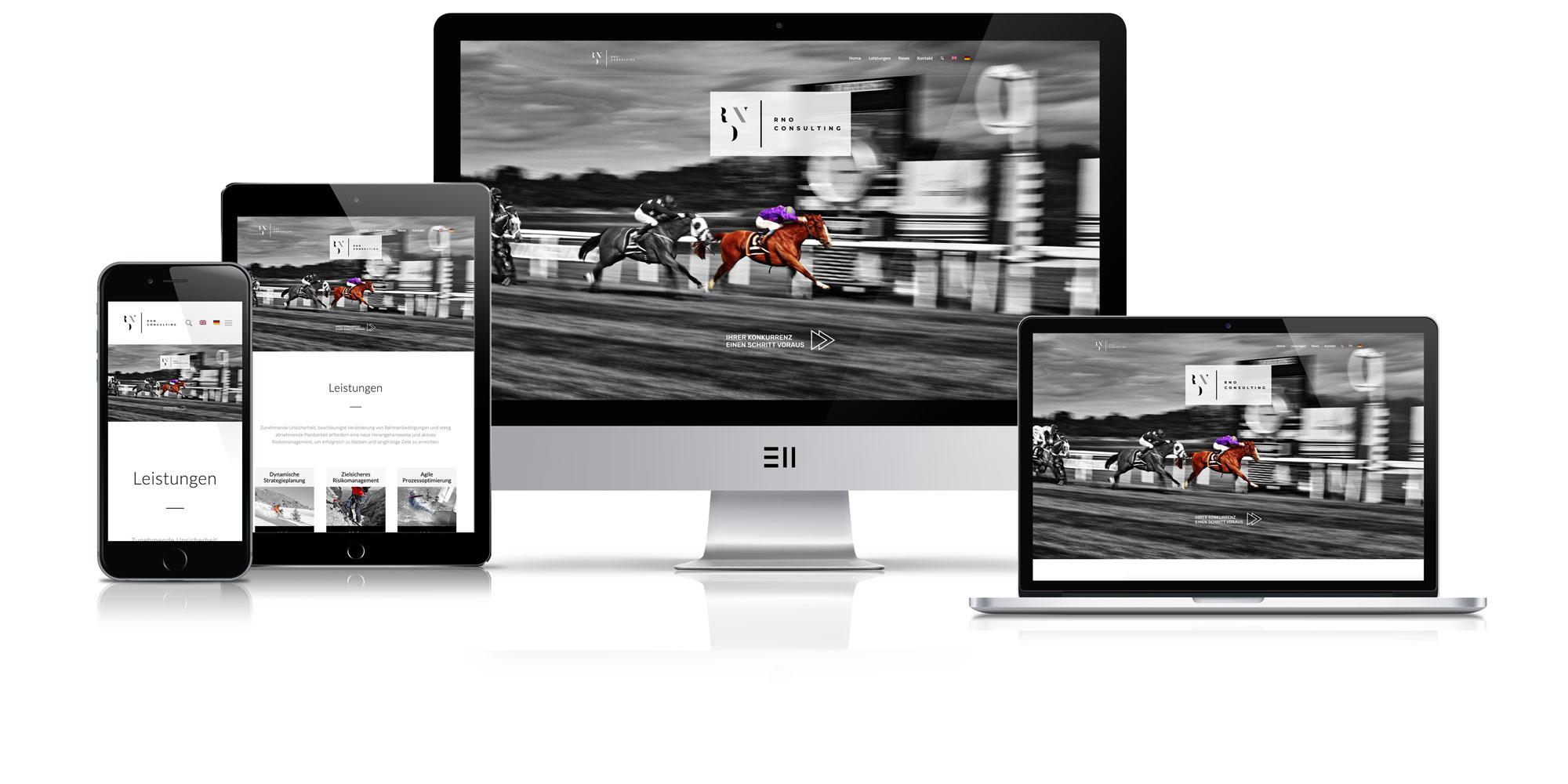 Bild zur Veranschaulichung responsiven Webdesigns RNO Consulting