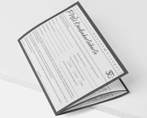 Werbeagentur Muelheim Oberhausen Grafikdesign kundenkarteikarten spc