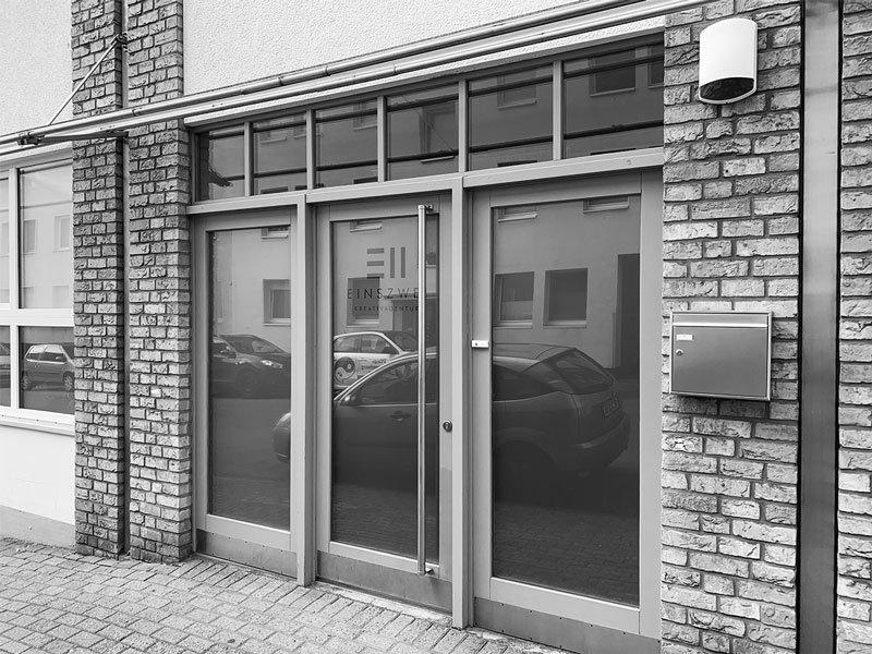 Eingang EINSZWEI - Kreativagentur aus Mülheim