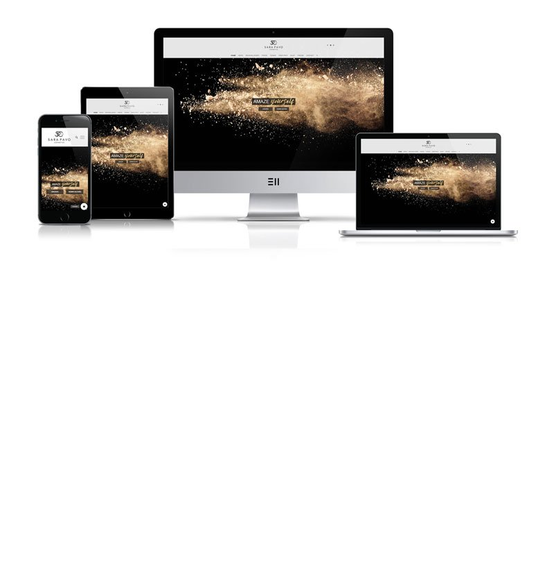 Werbeagentur Muelheim Oberhausen Webdesign sara pavo cosmetics mobile